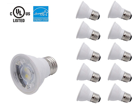 Pot Light PAR16 LED, E26/E27 Bases, Dimmable. COB / 10 pcs ---C1071