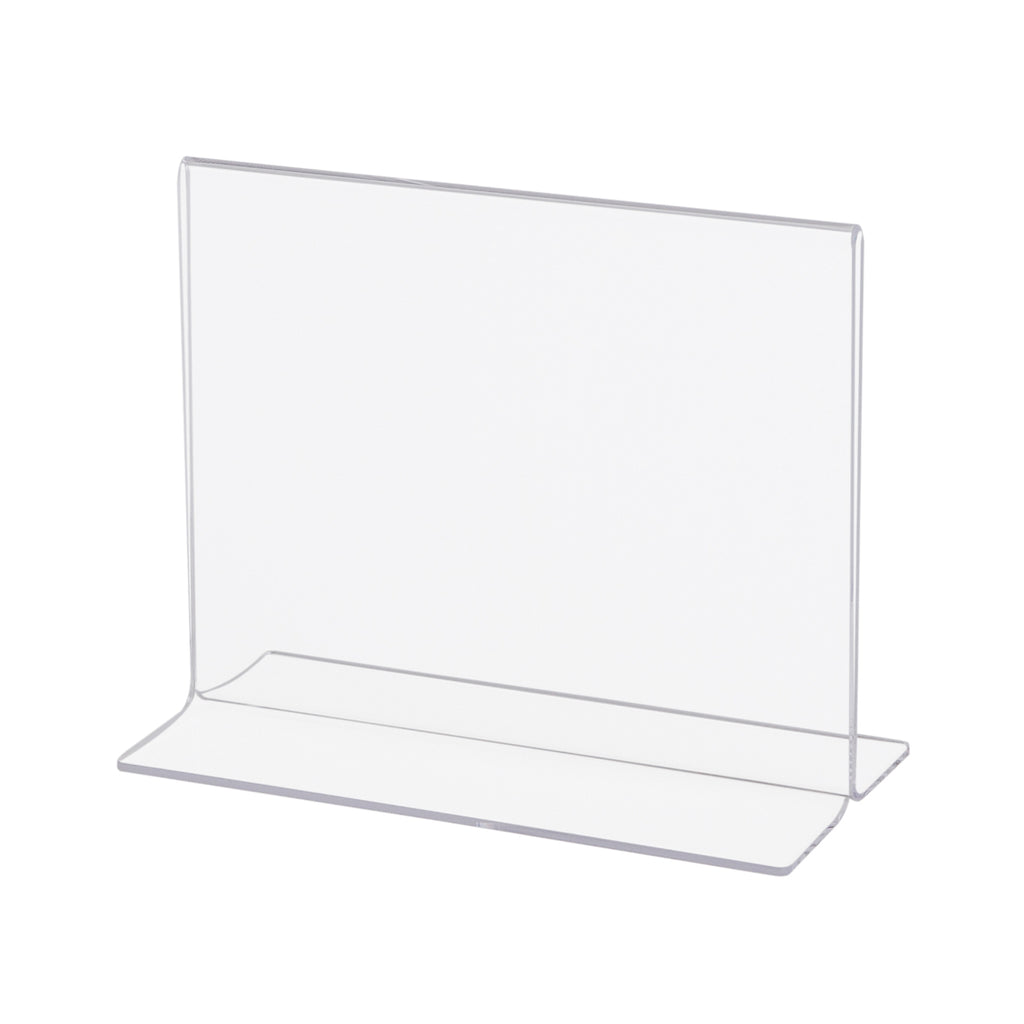 acrylic sign holder, bottom loaded