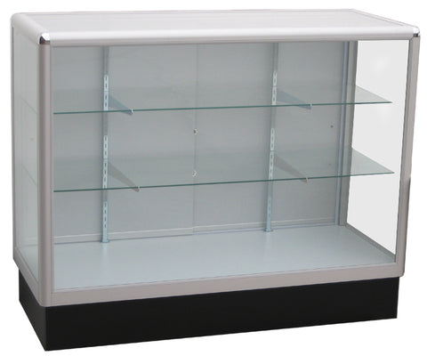 Display Case  With  Tempered Glass And Aluminum Frame In Full Vision - 48 x 38 x20 - Inch
