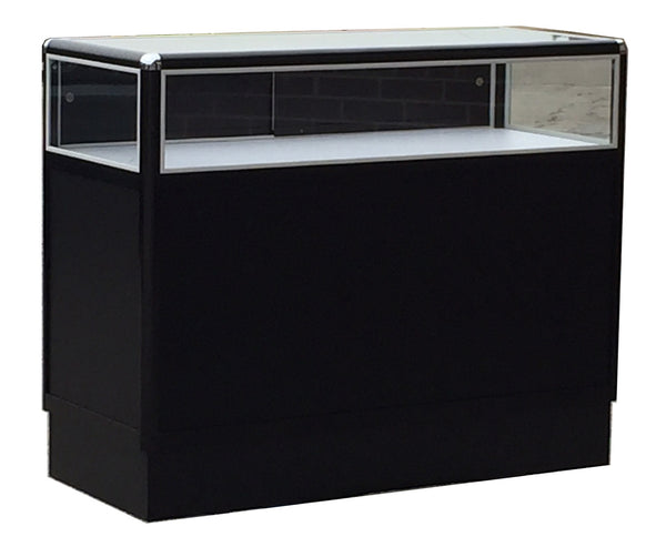 Jewelry Display Cases With Black Aluminum Frame Ablelin