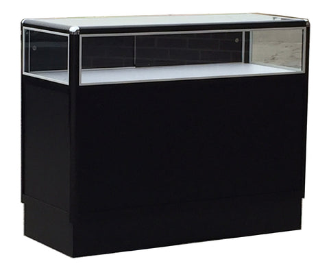 Glass Displays Cases With Aluminum Frames For Jewelry In Black Electrophoresis - 48 x 38 x 20 - Inch
