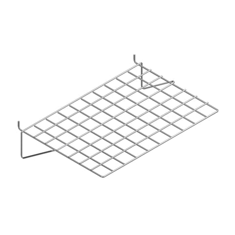 Flat wire shelf for slatwall and slatgrid of 3/16'' wire.
