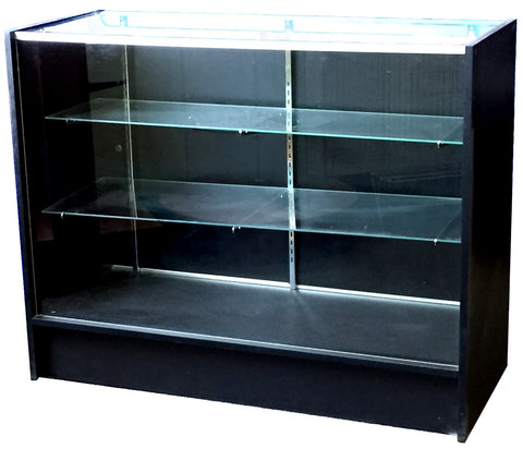 Glass Display Case In Full Vision - 48 x 38 x 18 - Inch - Black