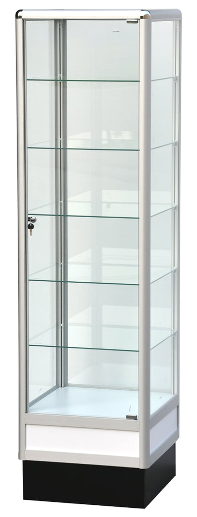 Glass Display Cabinet With Aluminum Frame - 72 x 20 x20 - Inch