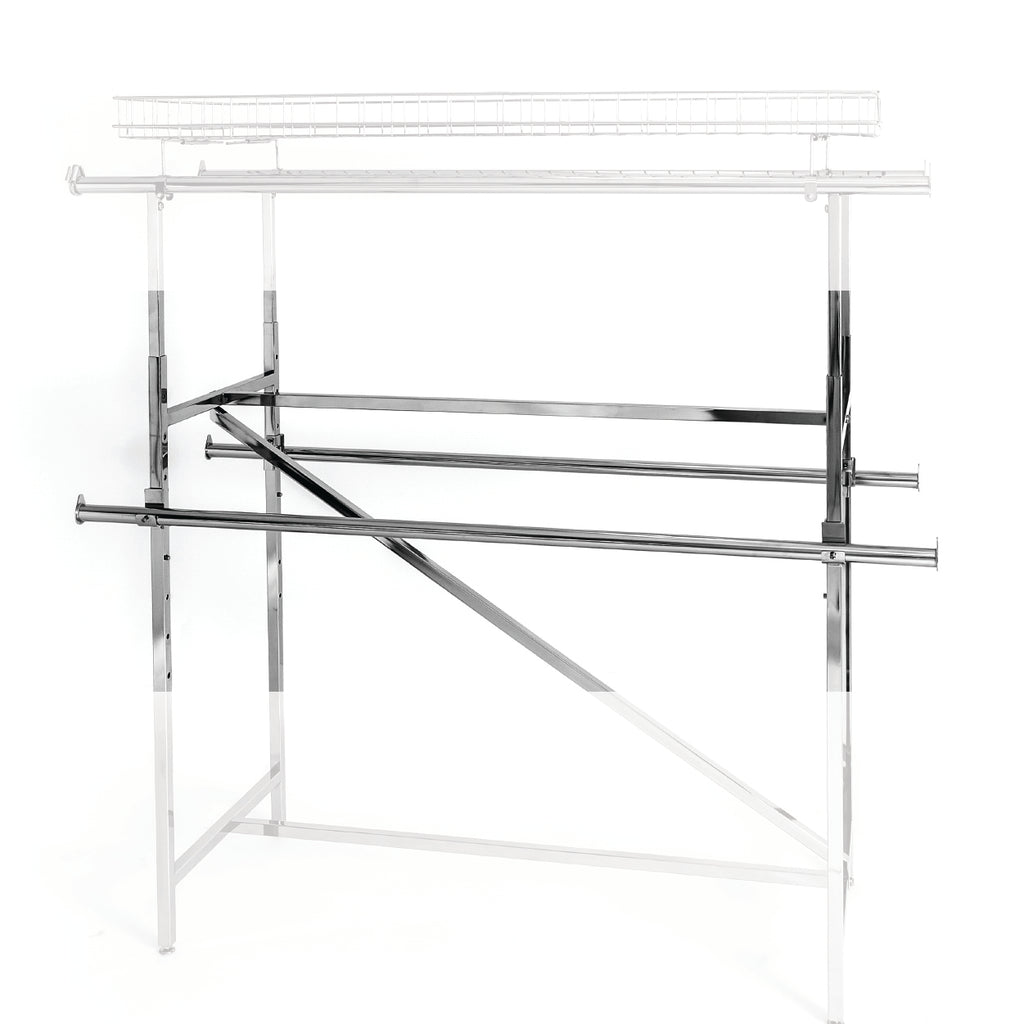 hangrail with clamp for standard H rack and V brace H rack