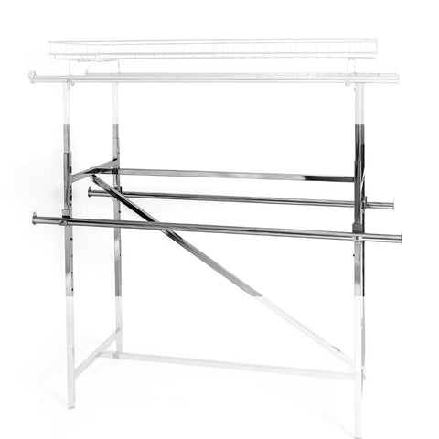 Clothes rack - 60 - inch hangrail with clamp for  H rack