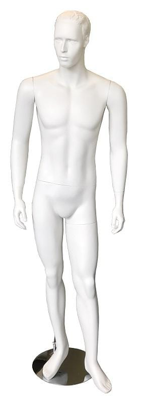 Male fiber glass standing white mannequin