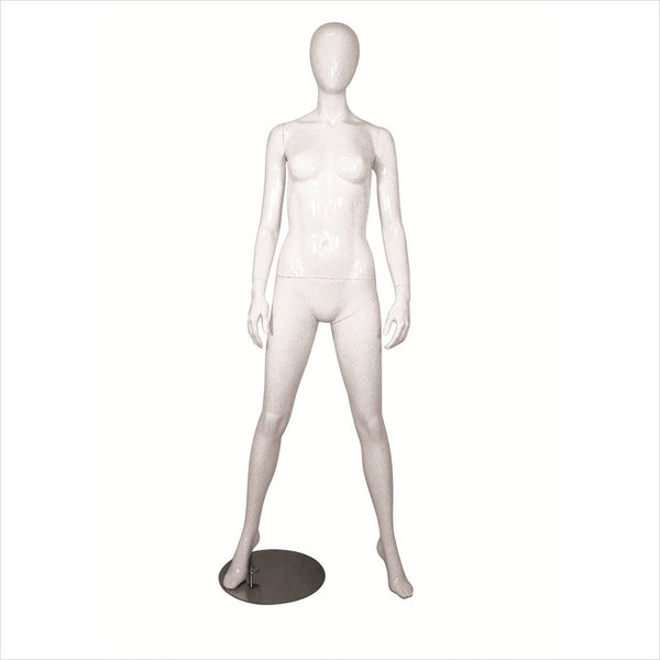 Female Fiber Glass Mannequin with Arms by Side - MICHELLE-4 B/W
