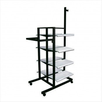 3 Sided Merchandiser with 8 shelves