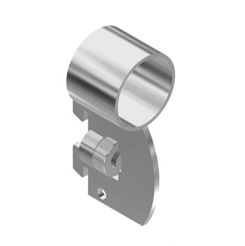 "Side mount bracket for 1-1/4"" or 1-5/16"" round tube (fits 1/2"" slot, 1"" OC wall standards)"