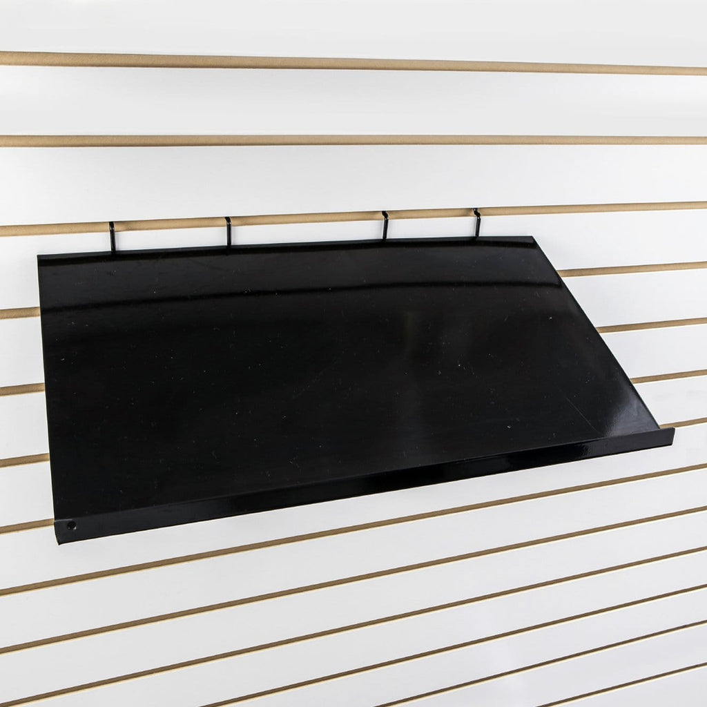 Slant 24''L x 12''D metal shelf with 5/8'' front lip.