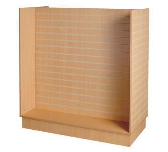 Slatwall Display H Unit Maple - 49 1/2 x 24  x 54 - Inch