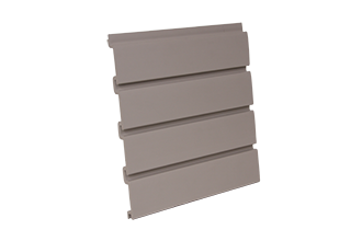 PVC Slatwall 4 x 1 - Foot Taupe, and 8 pcs of 4 x 1 - Foot Make 1pc Standard 4 x 8 - Foot Vertical Slatwall