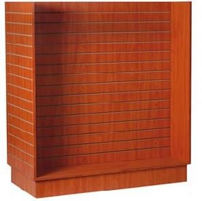 Slatwall gondola - Slatwall H shape display cherry finish