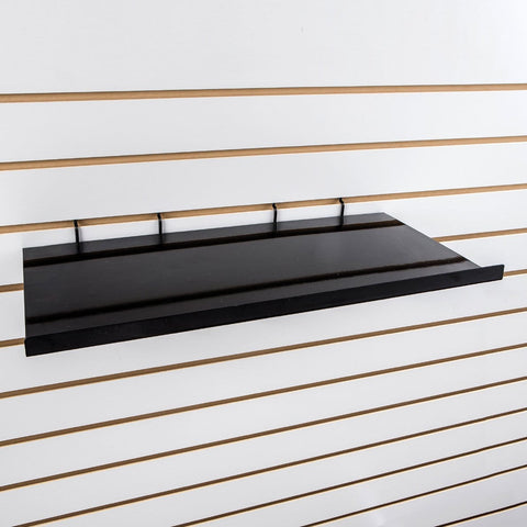 Straight 24''L x12''D metal shelf with 5/8'' front lip.
