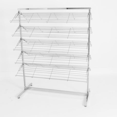 Two sided shoe rack