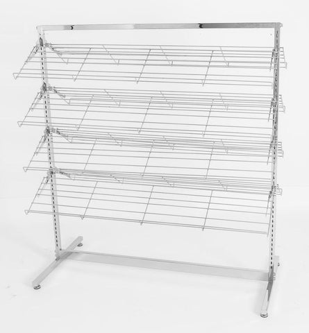 Metal shoe rack - Two sided shoe rack with 8 shelves