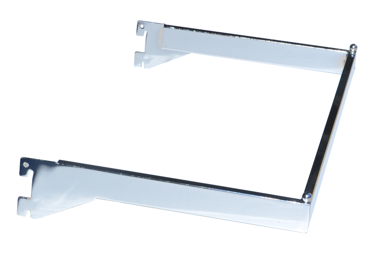 U Shaped Hangrail - U bar for heavy duty wall standards chrome