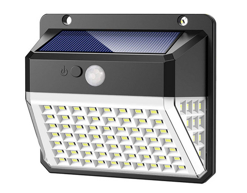Waterproof Outdoor Motion Sensor 82 Led Solar Wall Light / SSE58