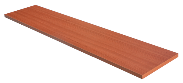 Wood shelf for heavy duty standard system U bar cherry