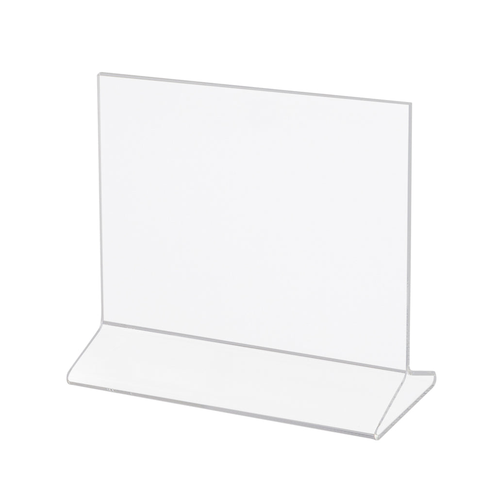 8-1/2''H x 11''W top loaded plexi card holder.