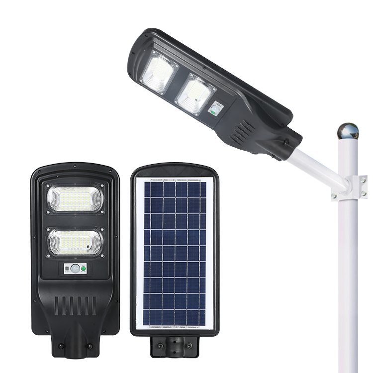 High power ip65 waterproof outdoor 60w integrated all in one solar LED street light / S19-60