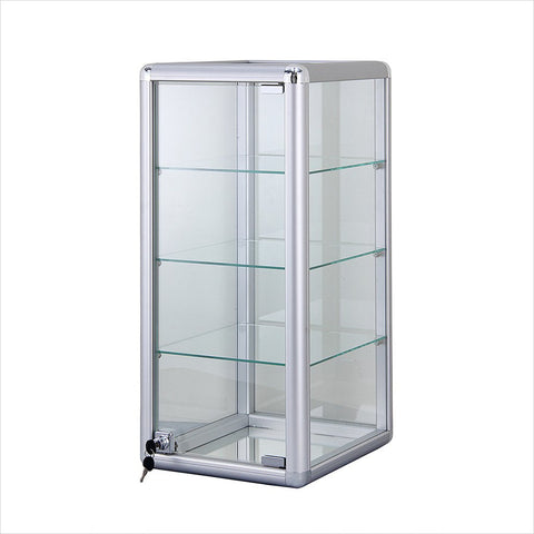 "Counter Display Cases With Aluminum Frames - 14"" L x 12"" W x 27"" H"