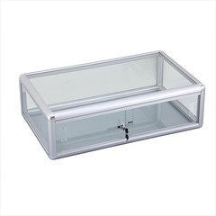 "Counter Display Cases With Aluminum Frames And Lock - 30"" L x 18"" W x 9"" H"