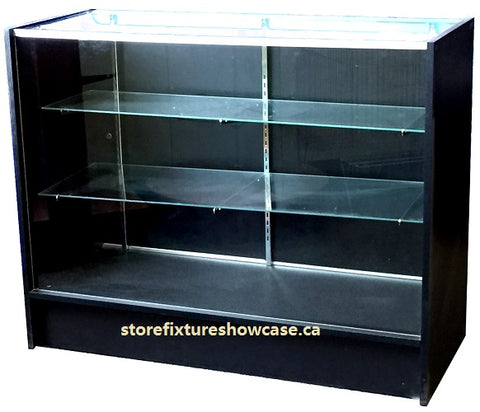 Glass Showcase In Full Vision Black - 48 x 38 x20 - Inch