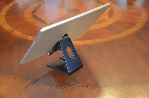 Desktop Cell Phone Stand Portable Aluminum Tablet holder --- Black