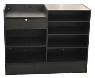 Retail Counters Canada With Register Counters In Black - 48 x 18 x 38 - Inch