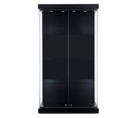 Wall Display Cabinets with Front and Side Glass in Multi Finishes 42(W) x 19.5(D) x 79.5(H) - inch