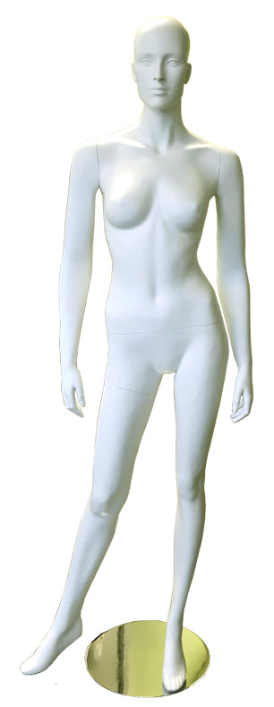 Female fiber glass standing white mannequin with head --- DYM106w