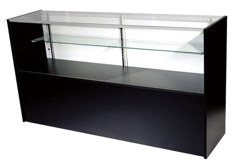 Showcase For Sale In Half Vision Black - 48 x 38 x 18 - Inch