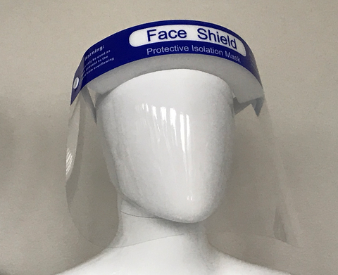 Face Shield - anti-fog, anti-static, latex free, fiberglass free