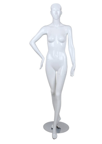 Female glossy mannequin,Right Arm on Hip-BELLA1