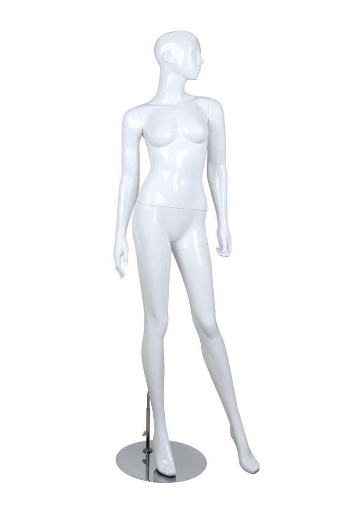 Female glossy standing mannequin,Arms to Sides-BELLA2