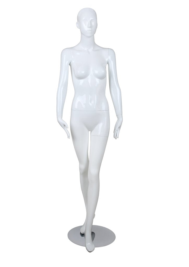 Female glossy mannequin,Left Leg in Front- BELLA3