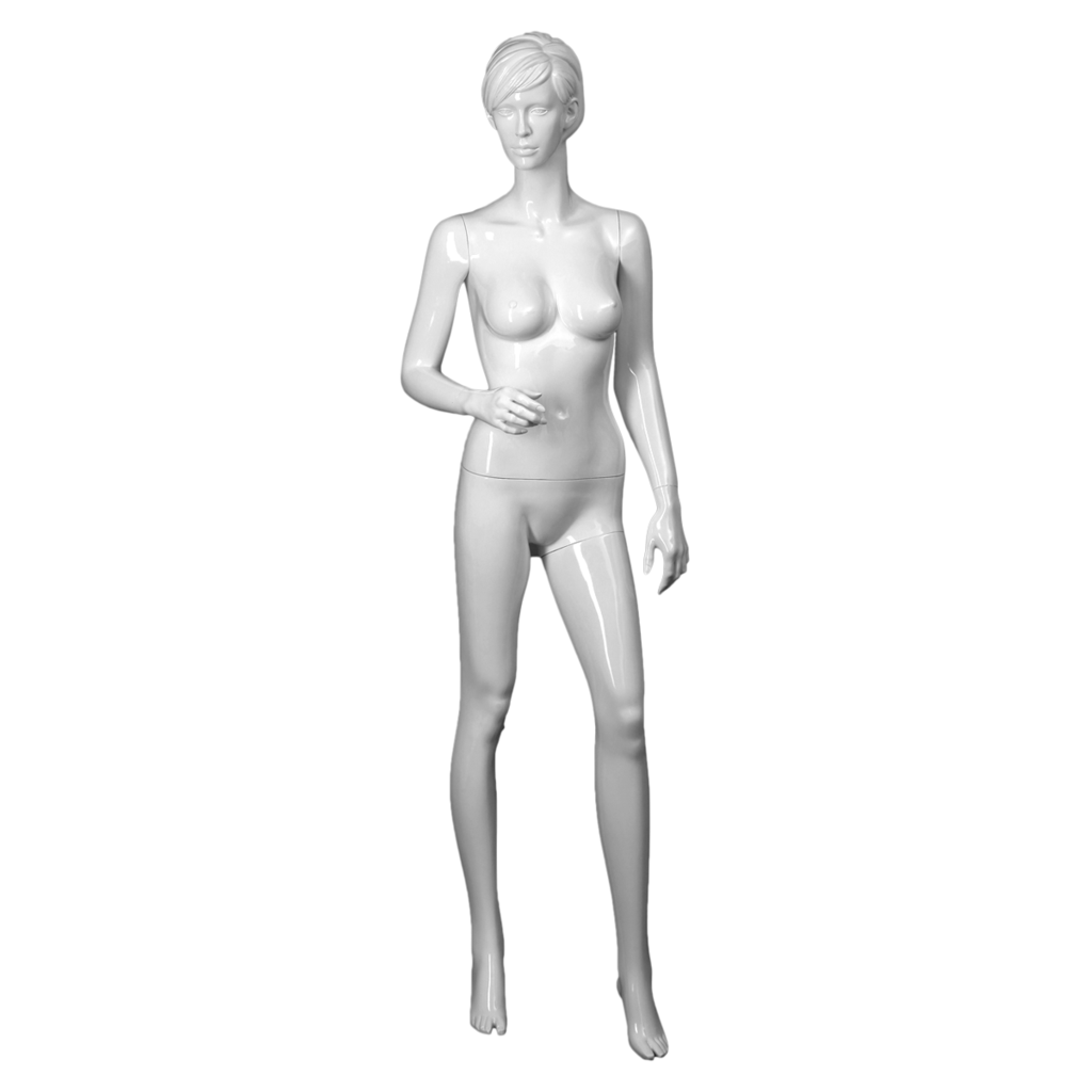 White realistic female mannequin with right arm bent_Elizabeth 3