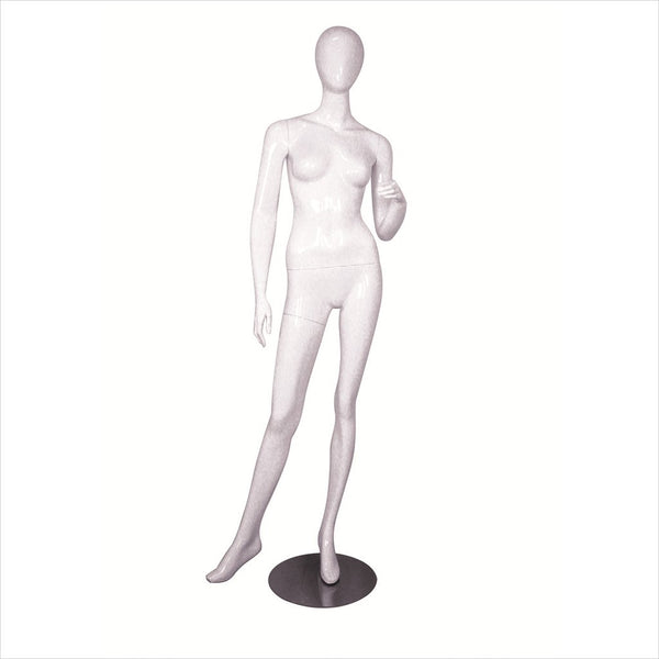 Female Fiber Glass Mannequin with Left Arm on Waist -MICHELLE-2 W