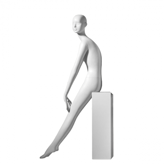 White Female mannequin with arms positioned forward on lap- Kate/4