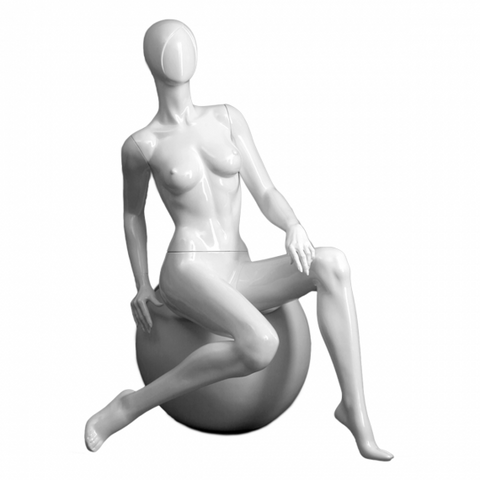 Female mannequin with round stool -SAMANTHA/5