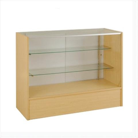Glass Showcase In Full Vision Maple - 48 x 38 x20 - Inch
