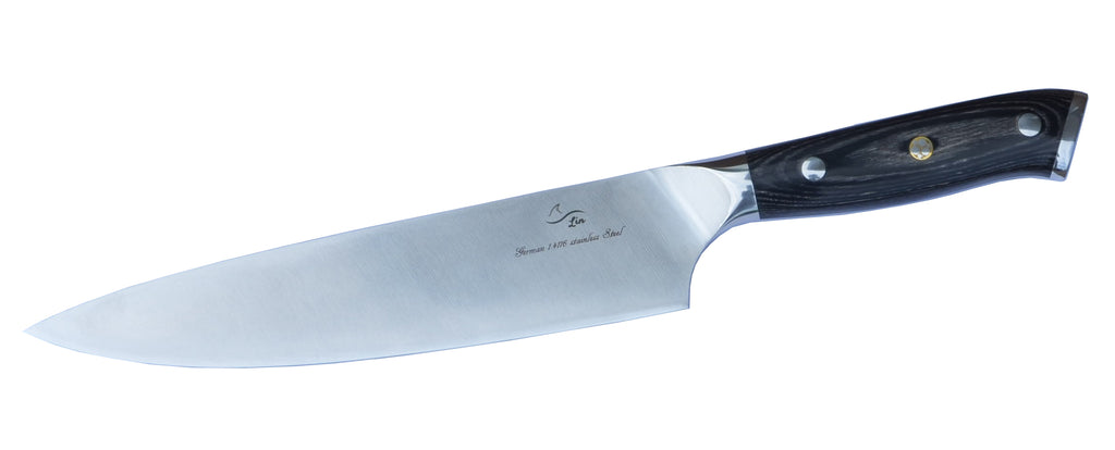 8-inch Professional Chef Knife with brushed matte blade