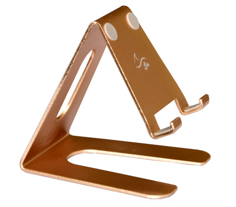Desktop Cell Phone Stand Portable Aluminum Tablet holder --- Gold