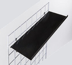 Gridwall straight sheet metal shelf