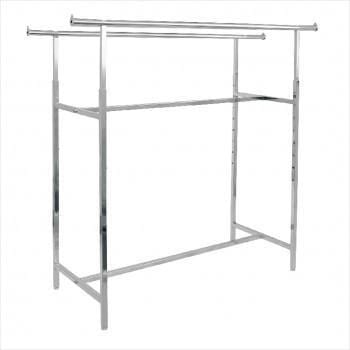 Clothes Rack - Standard H rack, double bar rack chrome