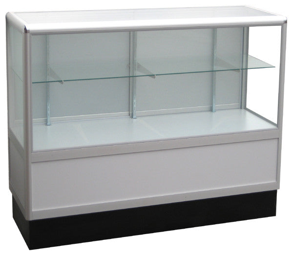 Retail Display Cases With Aluminum Frames In Half Vision - 48 x 38 x20 - Inch