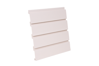 PVC Slatwall 4 x 1 - Foot Antique White, and 8 pcs of 4 x 1 - Foot Make 1pc Standard 4 x 8 - Foot Vertical Slatwall