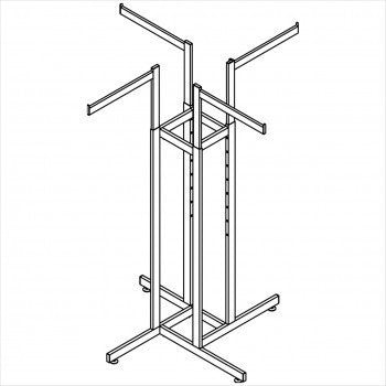 heavy duty 4 way rack